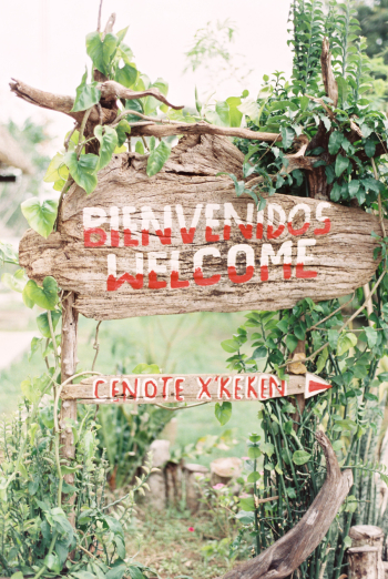Welcome Sign at Cenote Xkeken