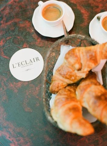 Croissants at Leclair Cocktail Bar in Paris France