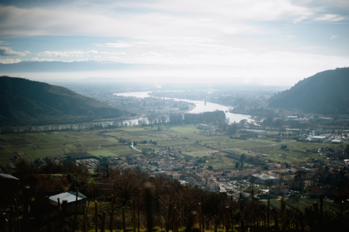 Overlooking Domaine de Gouye in Rhone Valley France