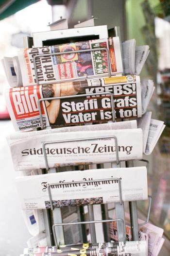 Magazine Rack in Lucerne Switzerland