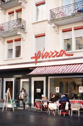 Piazza of Zurich Switzerland