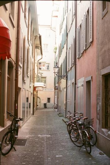 Quiet Alley in Lucerne Switzerland