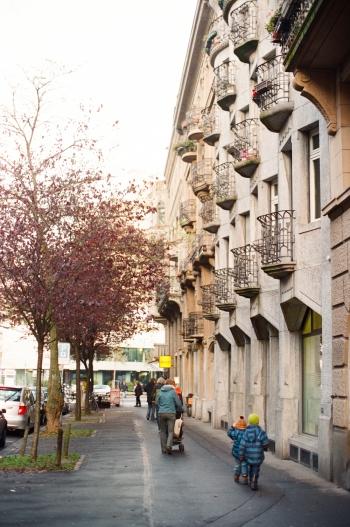 Sidewalk in Zurich Switzerland