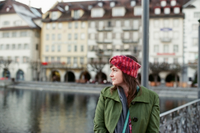 Woman in Lucerne Switzerland