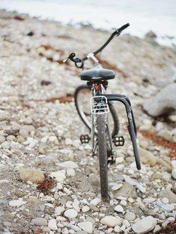 Bicycle on the Beach in Santa Barbara