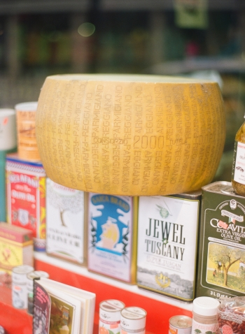Cheese Wheel and Olive Oils in New Orleans