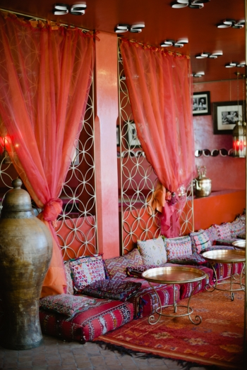 Decor at Cafe Arabe Marrakech