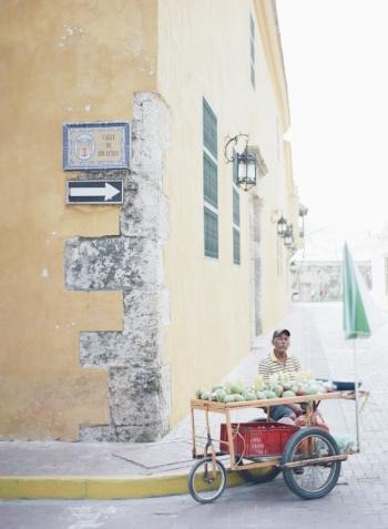 Fruit Cart in Cartagena Colombia