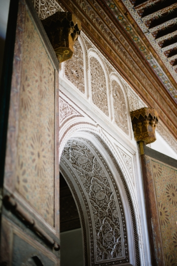 Intricate Details at the Bahia Palace in Morocco