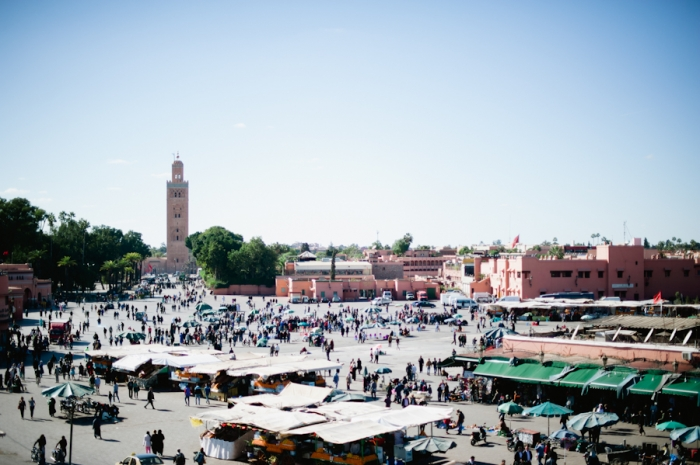 Overlooking the Souks in Marrakech Morocco