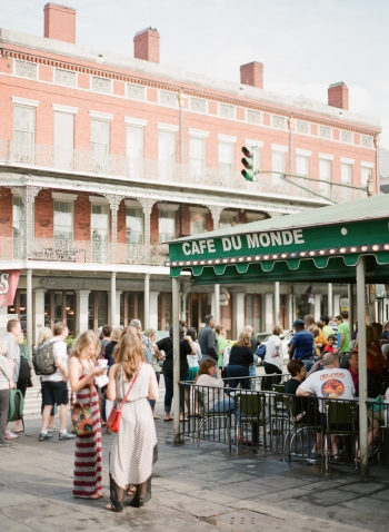 Patio Dining at Cafe du Monde in New Orleans