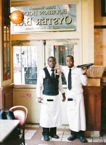 Servers at Bourbon House Restaurant in New Orleans