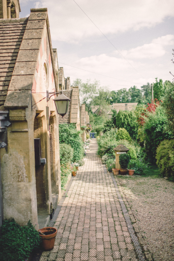 Cobblestone Path in the Cotswolds