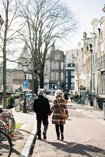 Couple Walking in Amsterdam