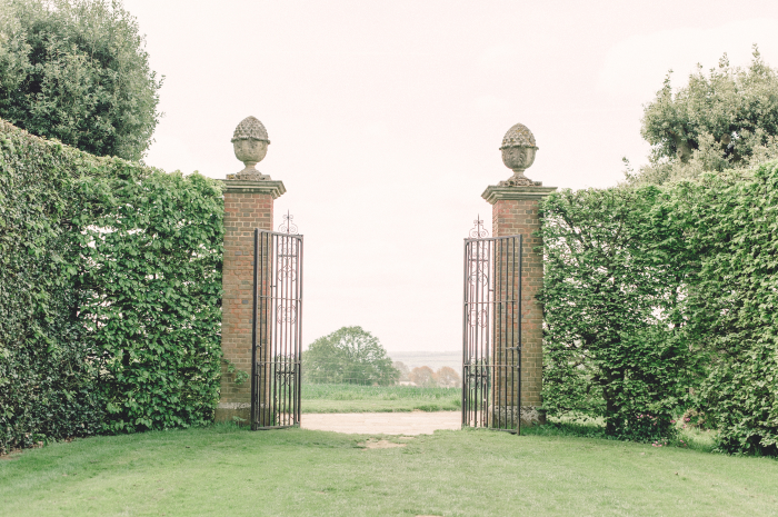 Gates at the Hidcote Manor Garden in the Cotswolds