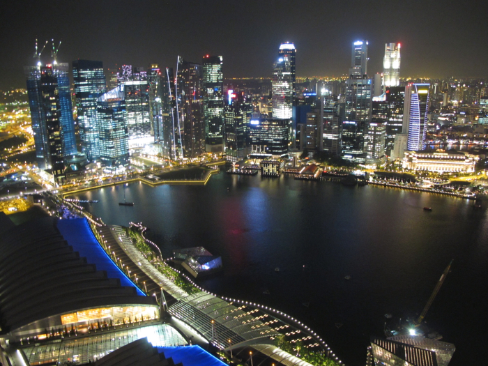 Overlooking Singapore at Night