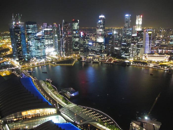 Overlooking Singapore at Night