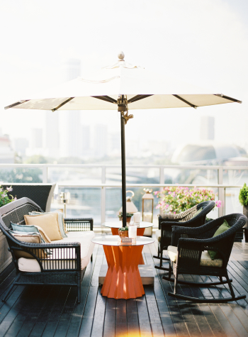 Patio Lounging at the Fullerton Bay Hotel in Singapore