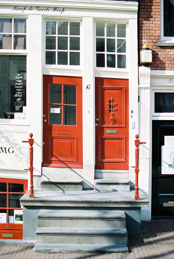 Red Doors in Amsterdam