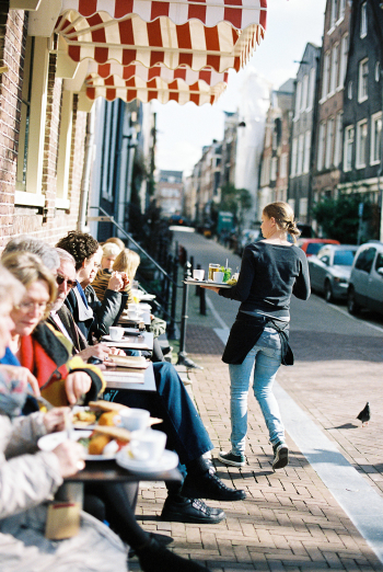 Streetside Cafe in Amsterdam