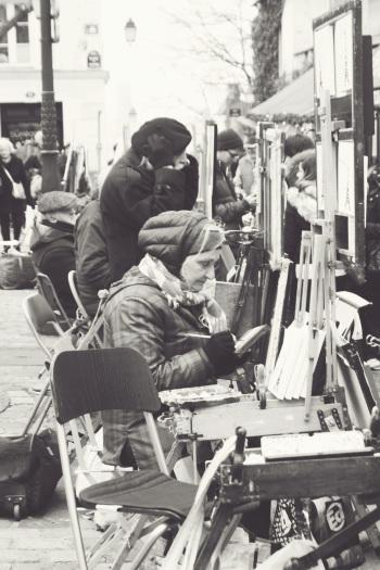 Artists in Montmartre Area of Paris