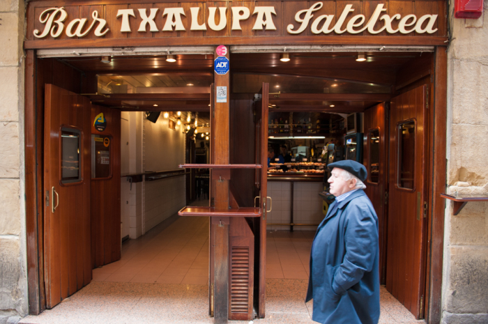 Bar Txalupa in San Sebastian Spain