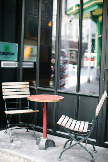 Bistro Seating in Antwerp Belgium