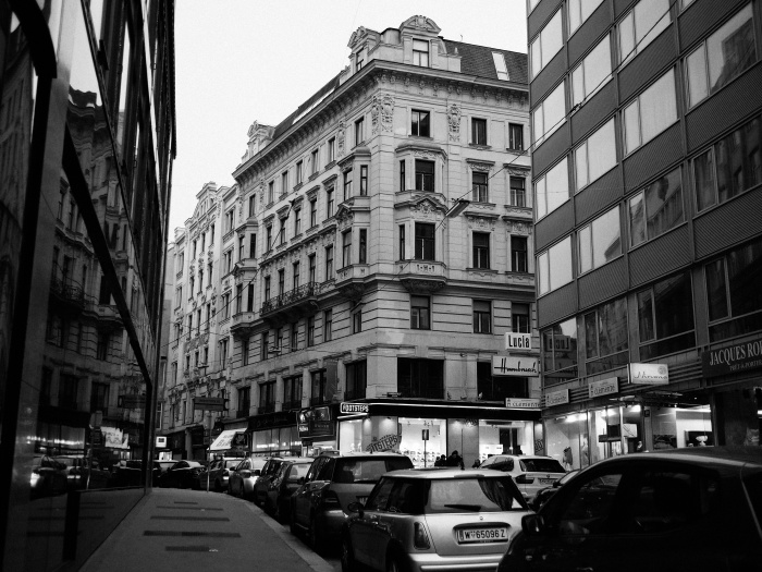 Bustling streets of vienna