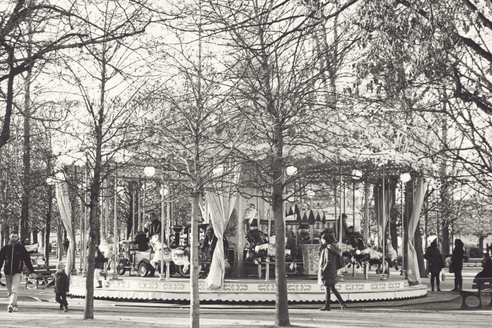 Carousel at the Graffiti at the Tuilerie Gardens in Paris