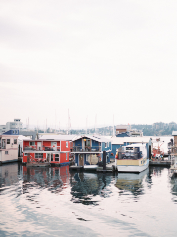 Houseboats in Victoria British Columbia