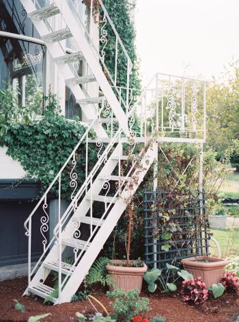 Iron Staircase in Victoria British Columbia
