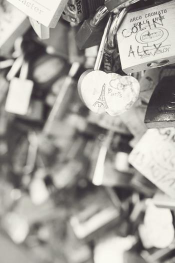 Love Locks in Paris France