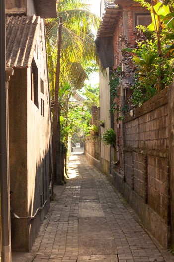 Narrow Alley in Ubud Bali