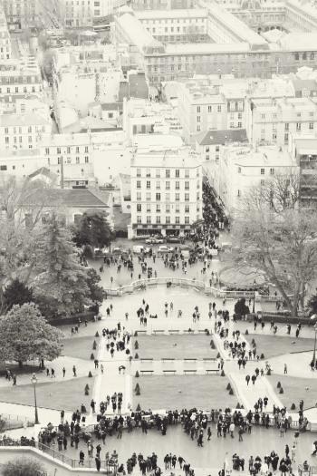 Overlooking Montmartre in Paris