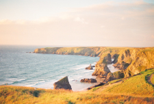 Overlooking the Bedruthan Steps of England