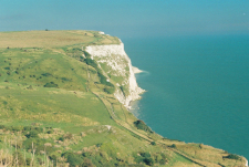 Overlooking the White Cliffs of Dover England