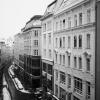 Snowy Street in Vienna Austria
