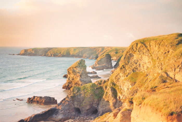 Sunset Over the Bedruthan Steps of England