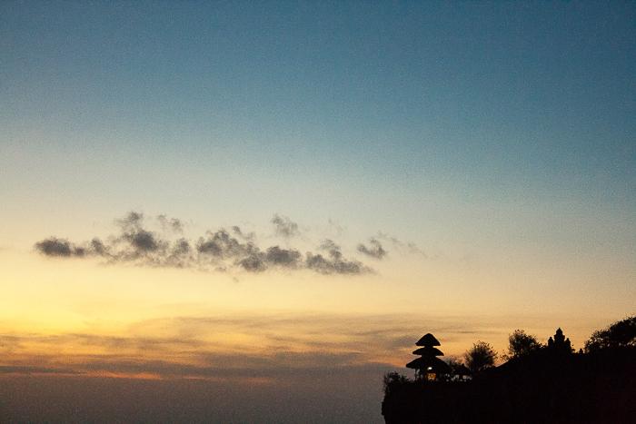 Sunset at Uluwatu Temple in Bali