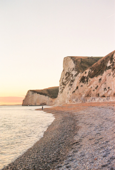 Sunset on the Beach in Durdle Door England
