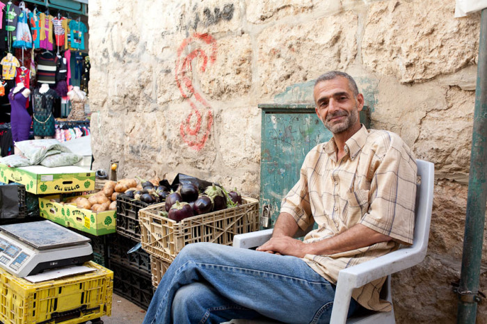Vendor in the Old City of Bethlehem