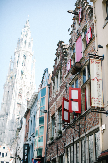 Walking the Sidewalks of Antwerp Belgium