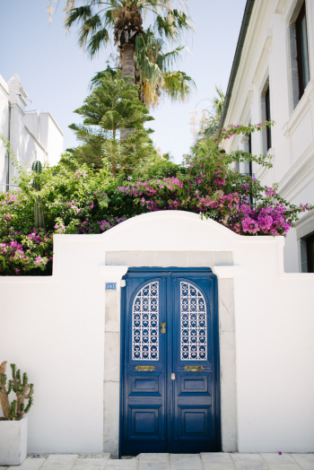 Blue Doors in Bodrum Turkey