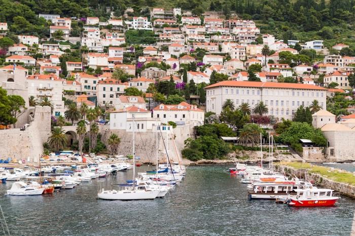 Boat Harbor in Dubrovnik Croatia
