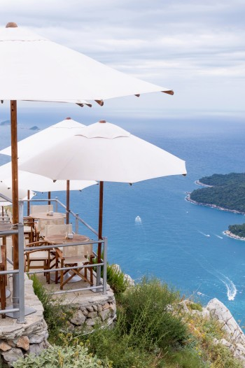 Cafe with a View in Dubrovnik Croatia