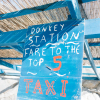 Donkey and Taxi Station in Kos Island Greece