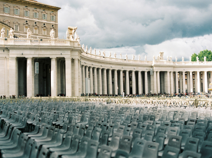 Empty Chairs in the Vatican City of Rome