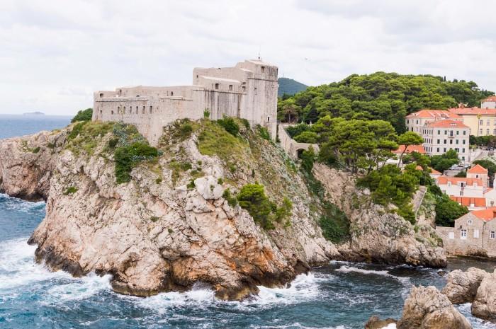 Fort Lovrijenac in Dubrovnik Croatia