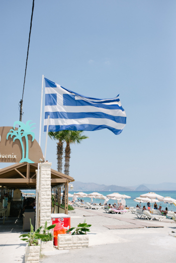 Greek Flag on Kos Island