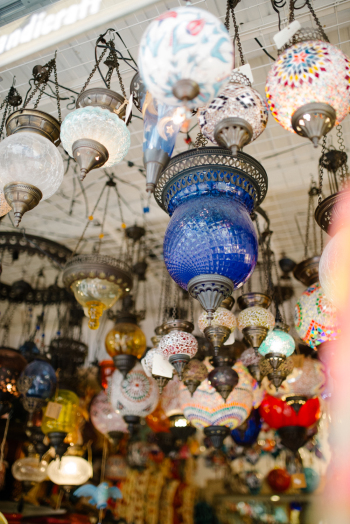 Hanging Lanterns in Bodrum Turkey